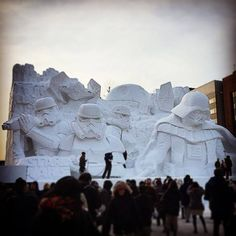 Japanese Army Uses 3,500 Tons Of Snow To Create Massive Star Wars Sculpture For Snow Festival