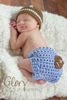 Baby Boy Football Hat and Diaper cover by LandyKnits on Etsy, $40.00 - for newborn pic?