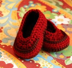 Too cute. Crochet baby loafer.