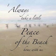 Always take a little peace of the beach home with you