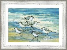 Shop for Portfolio Canvas Decor Paul Brent 'Surfside Sandpipers' Framed Canvas Wall Art. Get free delivery On EVERYTHING* Overstock - Your Online Art Gallery Store! Get in rewards with Club O! Painting Frames, Painting Prints, Beach Paintings, Bird Paintings, Acrylic Paintings, Canvas Wall Art, Canvas Prints, Framed Canvas, Big Canvas