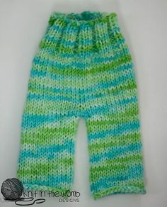 Baby Knitting Patterns Pants Ravelry: Cutie Patootie Pants pattern by Amanda Morse Baby Pants Pattern, Crochet Baby Pants, Knitting For Kids, Baby Knitting Patterns, Cute Pants, Kids Pants, Romper Pants, Doll Clothes, Kids Outfits