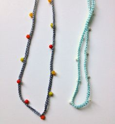 crochet necklace DIY by Wise Craft Handmade