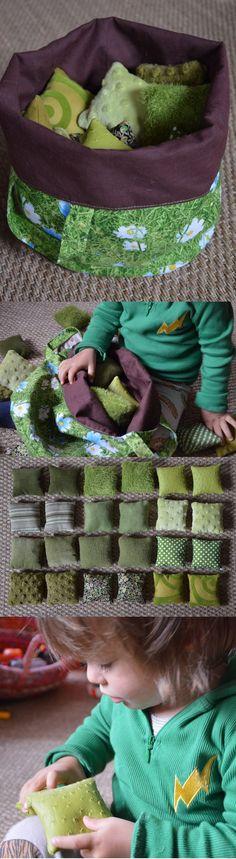 51 ideas for baby diy stuff sensory play Diy Montessori, Montessori Toddler, Montessori Materials, Montessori Activities, Infant Activities, Sewing For Kids, Baby Sewing, Diy For Kids, Sewing Box