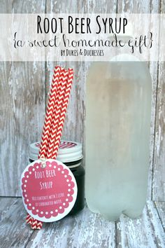 homemade root beer syrup with free printable - could be fun Father's Day gift!