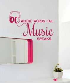 Hey, I found this really awesome Etsy listing at http://www.etsy.com/listing/152926057/48x24-where-words-fail-music-speaks-dj