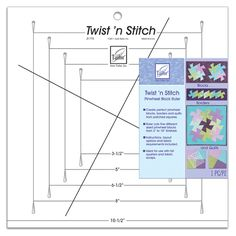 <p> The June Tailor Twist 'n Stitch creates perfect pinwheel blocks, borders and quilts from patched</p> <p> </p>