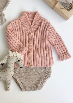 Pretty Hand Knitted Baby Cardigan & Bloomers | Velvetknit on Etsy