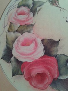 Priscilla Hauser beautifully blended roses from her book, Painting Patterns.