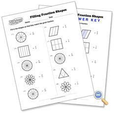 Filling Fraction Shapes - WorksheetWorks.com