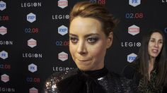 Actress Aubrey Plaza explores her character Lenny Busker at the Legion red carpet premiere!