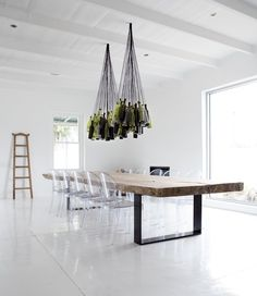 Drink Up! A DIY Chandelier For Wine-Lovers