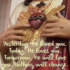 Jesus Christ is the same yesterday and today and forever. Hebrews 13:8  #catholic #peace #eucharist #believe #silence #truth #jesus #jesuschrist #holyspirit #prayer #mass #saints #communion #virginmary #avemaria #hailmary #christian #church #savior #God #love #beauty #faith #trust #humility #santamissa #가톨릭 #katolik by catholicdaily