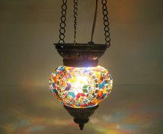 mosaic lamp / mosaik lampe / Moroccan lantern / hanging lights / chandelier h122 #Handmade #Moroccan