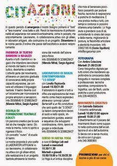 Sonia Squilloni © 2013 Ideazione logo e volantino promozionale delle attività nello spazio Cit - Teatro Dante Campi Bisenzio.
