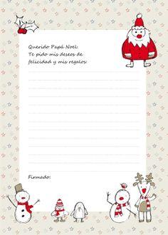 Descarga gratis: Carta para Papá Noel Christmas Inspiration, Free Printables, Snowman, Religion, Christmas Decorations, Xmas, Paper Crafts, Wallpaper, Scrapbooking