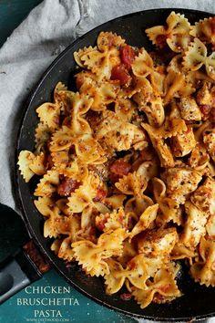 Chicken Bruschetta Pasta   http