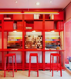 A reovated workspace for Apostrophy's utilizes simple construction techniques and basic building materials in fun and playful ways / office / Bangkok