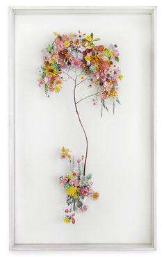 Anne ten Donkelaar Flower construction #13  (60cm x 100cm x 6.5 cm)