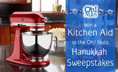 Win a Kitchen Aid Stand Mixer from Oh! Nuts http://www.ohnuts.com/sweeps/hanukkah12/sweepstakes.cfm