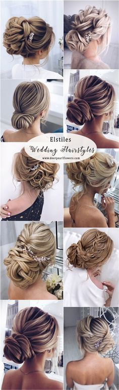 Elstiles long wedding updo hairstyles for brides