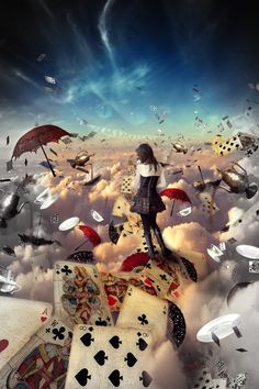 And here's a little nonsense from me. I love Alice in Wonderland. This is my very favorite books! Lewis Carroll fame for his wondrous works. Here I thought of them made a photo manipu...