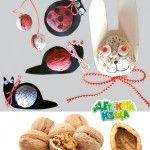 Walnut Crafts for Kids – martenitsas