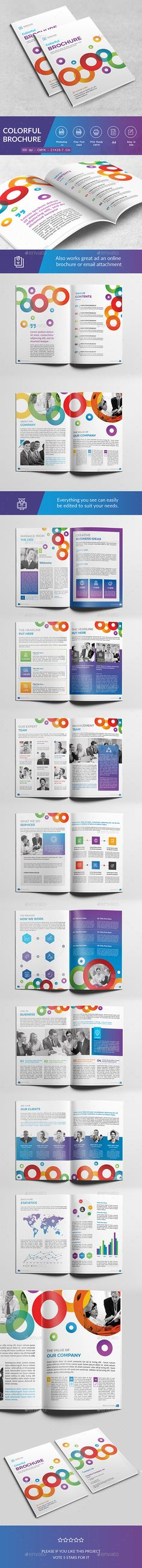 Colorful Brochure — Photoshop PSD #modern #clean • Download ➝ https://graphicriver.net/item/colorful-brochure/18709805?ref=pxcr