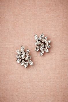 Small but glamorous earrings