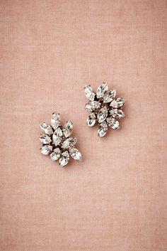 Small but glamorous earrings