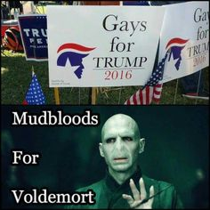 LLOL - Literally Laughed Out Loud. #Trump #Voldemort