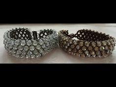 Beaded Earrings Patterns, Beaded Jewelry Designs, Bead Jewellery, Diy Jewelry, Beaded Necklace, Beaded Bracelets, Necklace Tutorial, Handmade Bracelets, Bracelet Making