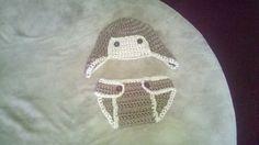 Newborn aviator hat & diaper cover