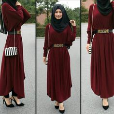 Hijab Gown, Hijab Outfit, Modest Maxi Dress, Modest Outfits, Islamic Fashion, Muslim Fashion, Abaya Fashion, Fashion Dresses, Pretty Outfits