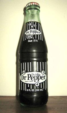 The only thing I like more than Dr. Pepper... Dublin Dr. Pepper made with real sugar cane! The drink was created in the 1880s by Charles Alderton of Waco, Texas and first served around 1885.