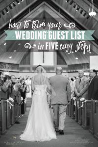 Trimming Your Guest List | Pensacola Wedding Planner » Sara Gillianne