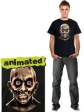 Awesome! But wonder if my phone batter would last long enought.   Zombie Mugshot Animated T Shirt - Party City