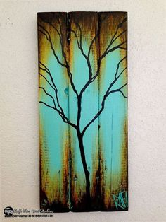 One More Form Of Art Using Wood – Paint On It!
