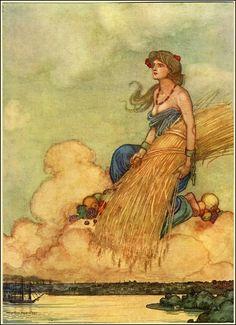 demeterish.... Illustration by W. Heath Robinson