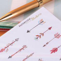 Decore seu Daily Planner com estilo! Aproveite.. Kit de Stickers Arrows por R$24,84  Compre online - www.paperview.com.br • Receba em casa.  #meudailyplanner #meuplanner #dailyplanner #papelariafina #papelariadeluxo #decor #stickers