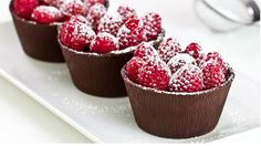 Raspberry Chocolate Cups!  Chocolate, raspberries, and whipping cream.... and a whole bunch of time. Looks YUMMY!!!