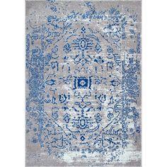 nuLOOM Vintage Inspired Oriental Blue Rug  (5' x 7'5)