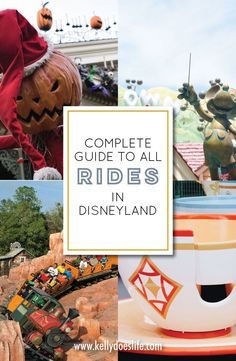 Are you heading to Disneyland Resort in California? Here is a complete list of Disneyland Rides for toddlers, for adults, and more! Check rides by height, when you should ride, and if you should ride at all!