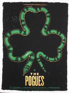 Original silkscreen concert poster for the Pogues at the Borgata Center in Atlantic City, NJ. 17x24 inches. Signed and numbered edition of only 200 by artist by Todd Slater.  Light scuffs.