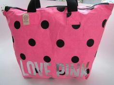 9077f683b Victoria Secret Morral Tote Bolsa Mochila Con Cierre Pink en Mercado Libre  México