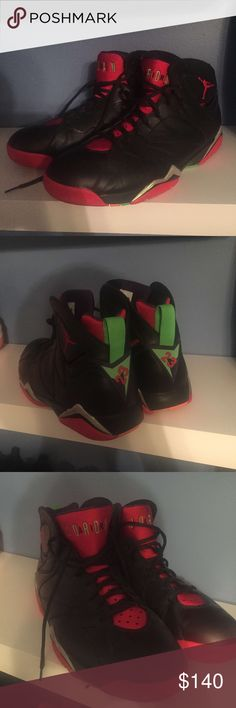 Jordan 7 Marvin the Martians Worn 3 times, in great condition pretty much brand new. Has original box to send with it Jordan Shoes Sneakers