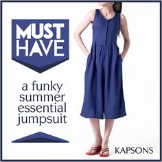 The Summer Hues... #Jumpsuit #FashionForWomen #Womenswear #SummerEssential #Kapsons #MustHave