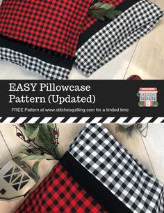 Sewing For Beginners Easy Easy Pillowcase Pattern - Cover Page 1 - Easy Pillowcase Tutorial Easy Sewing Projects, Sewing Projects For Beginners, Sewing Hacks, Sewing Tutorials, Sewing Crafts, Sewing Tips, Dress Tutorials, Diy Crafts, Sewing Patterns Free