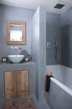 Risultati immagini per tadelakt petite salle de bain Bathroom Toilets, Small Bathroom, Master Bathroom, Relaxing Bathroom, Bathroom Ideas, Bathroom Art, Bathroom Designs, Stone Bathroom, Bathroom Layout