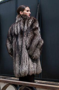 Pelliccia volpe argentata ebay